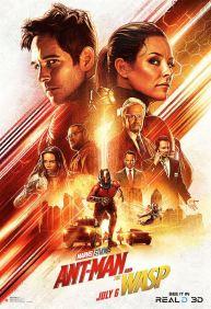 Ant-Man et la guêpe - super-héros - Paul Rudd - Evangeline Lilly - Michael Douglas - Michelle Pfeiffer - Laurence Fishburne - affiche décor