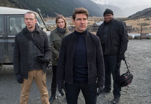 Mission impossible 6 - Fallout - Christopher McQuarrie - Ethan Hunt - Tom Cruise - Vingh Rames - Henry Cavill - Sean Harris - Rebecca Ferguson - équipe