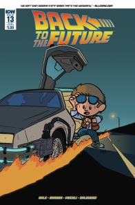 Retour vers le futur - tome 4 - Qui est... Marty McFly - John Barber - Bob Gale - Chris Eliopoulos - Luis Antonio Delgado - Back to the future #13 - alt cover