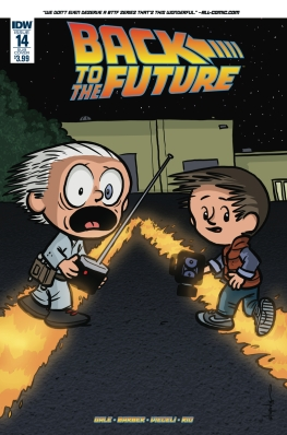 Retour vers le futur - tome 4 - Qui est... Marty McFly - John Barber - Bob Gale - Chris Eliopoulos - Luis Antonio Delgado - Back to the future #14 - alt cover
