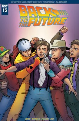 Retour vers le futur - tome 4 - Qui est... Marty McFly - John Barber - Bob Gale - Emma Vieceli - Jose Luis Rio - Back to the future #15 - cover