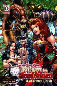 Wonderland - T1 - Retour au pays des merveilles - gore - maléfique - comics - Fraph Zeppelin - Gregory - Leister - Bonk - Rio - Ruffino - Mason - #0 - cover