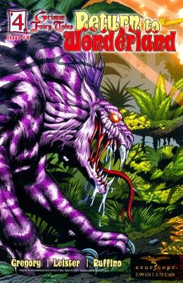 Wonderland - T1 - Retour au pays des merveilles - gore - maléfique - comics - Fraph Zeppelin - Gregory - Leister - Bonk - Rio - Ruffino - Mason - #4 - cover