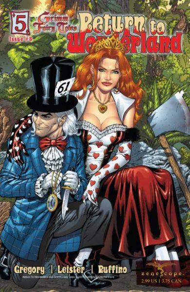 Wonderland - T1 - Retour au pays des merveilles - gore - maléfique - comics - Fraph Zeppelin - Gregory - Leister - Bonk - Rio - Ruffino - Mason - #5 - cover 2
