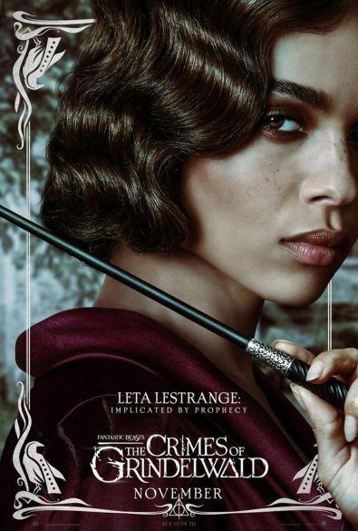 fantastic beasts and how to catch them - Les animaux fantastiques 2 - Les crimes de Grindelwald - paris - affiche Leta Lestrange - Zoe Kravitz