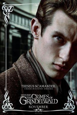fantastic beasts and how to catch them - Les animaux fantastiques 2 - Les crimes de Grindelwald - paris - affiche Thesee Dragonneau - Callum Turner