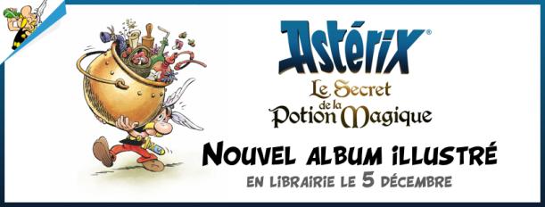 Astérix et le secret de la potion magique - dessin animé - film - astier - clichy - album du film - Fabrice Tarrin - banner
